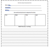 Story Sequencing Assessment Worksheet