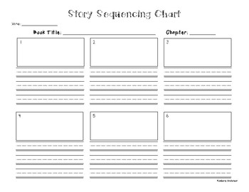 Freebie: Story Sequencing Chart Graphic Organizer for Chapters