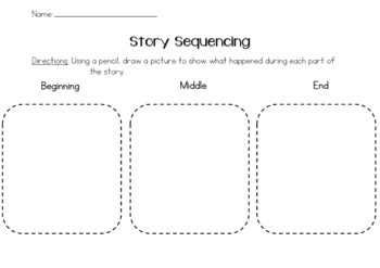 Story Sequencing Graphic Organizer