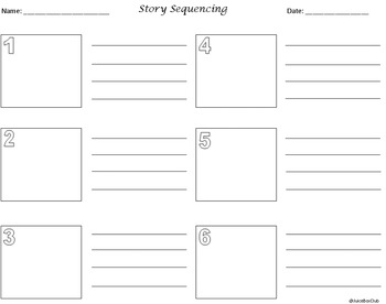 Story Sequencing Squares
