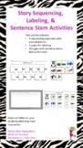Story Sequencing & Sentence Stem Activities using Panda Be