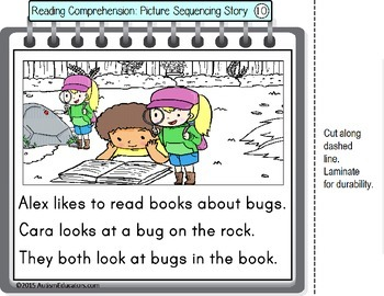 Story Sequencing with Pictures and Text BEGINNING READERS with DATA/IEP Goals