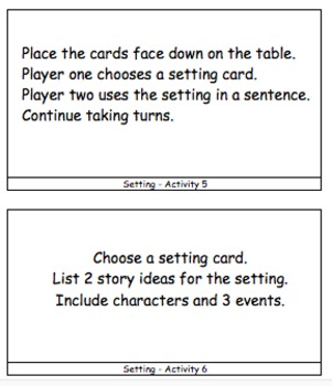 Story Setting -  250 Page Resource Bundle