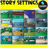 Story Settings Clip Art Set {Educlips Clipart}