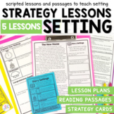 Story Settings - Small Group Reading Lesson Plans and Passages
