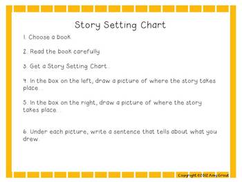 Story Settings Task Cards and Printables