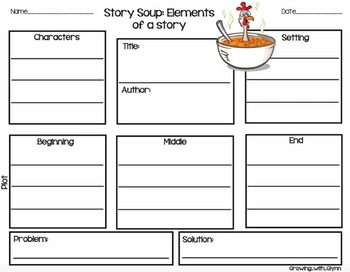 Story Soup: Elements of a story (A Poster & Chant)