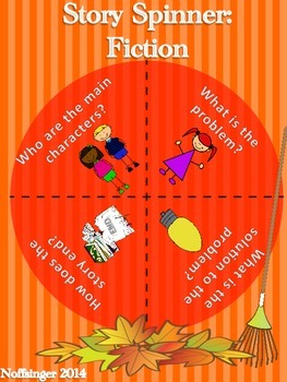 """Fall"" Comprehension Story Spinner for Fiction Texts- Freebie!"