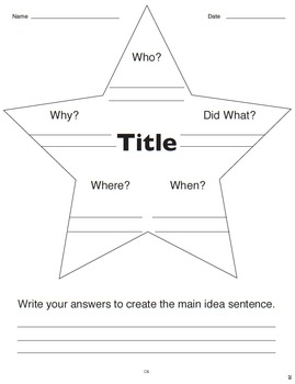 Story Star (Common Core RI 2.1, RL 2.1, RI 3.7)