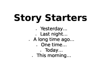 Story Starer Posters