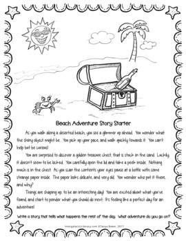 Story Starter {Beach Adventure} FREEBIE