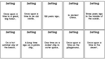 Story Starter Cards (black & white)