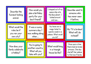 Story Starter Cards for Creative Writing Ideas