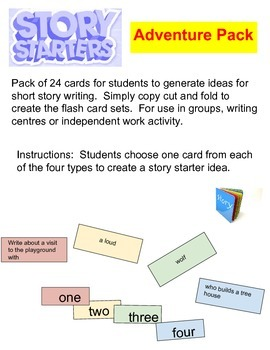 Story Starter Flash Cards - Adventure Pack