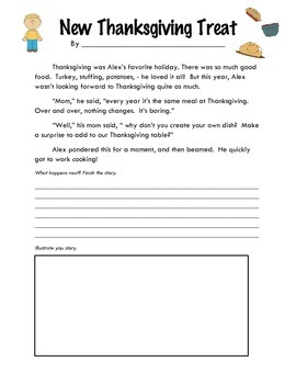 Story Starter: New Thanksgiving Treat