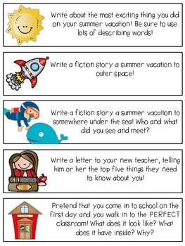 Story Starter Strips [Back to School Edition]