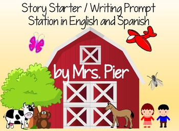 Story Starter / Writing Prompt Station in English and Spanish