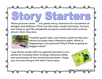 Story Starters with Photographs (40 task cards)