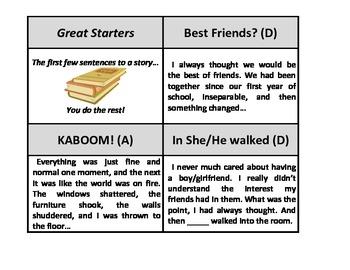 Narrative essay starters