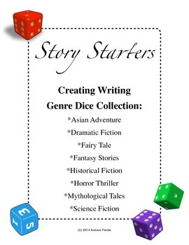 Story Starters - 8 Genres Dice Collection - Make your own