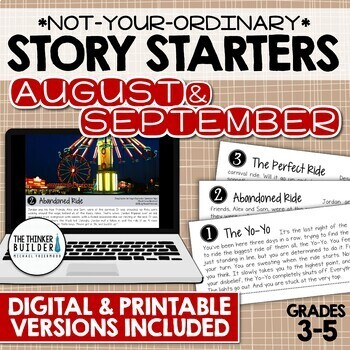 Story Starters: AUGUST/SEPTEMBER {Not Your Ordinary Writing Prompts!}