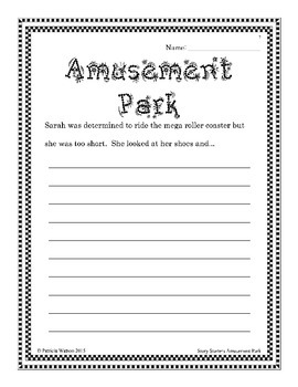 Creative Writing Amusement Park Story Starters: Fun writing prompts to get going