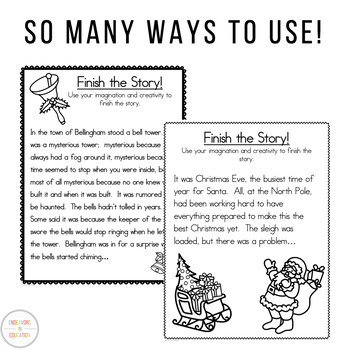 December Writing: Finish the Story/Story Starters