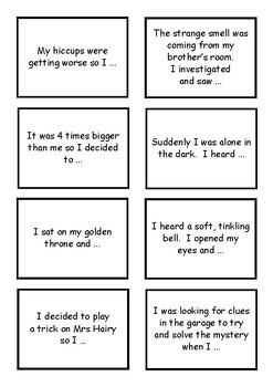 Story Starters - Writing in the First Person - 64 cards