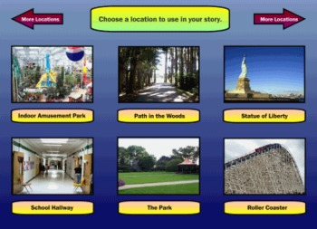 Story Starters Interactive Smart Notebook Activity Lesson