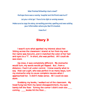 Story Starters, Level B