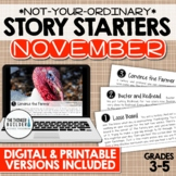 Story Starters: NOVEMBER {Not Your Ordinary Writing Prompts!}