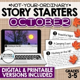 Story Starters: OCTOBER Writing Prompts (Digital & Printable)