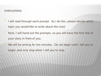 Story Starters Powerpoint