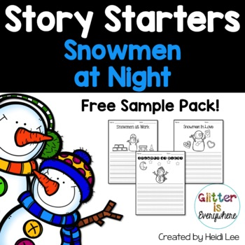 Story Starters: Snowmen at Night {Sample Freebie!}