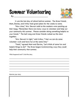 Story Starters: Summer Volunteering