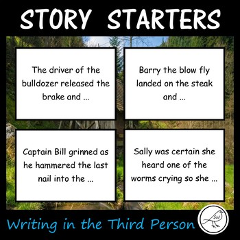 Story Starters - Writing in the Third Person - 64 cards