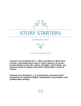 Story Starters Using Transitions
