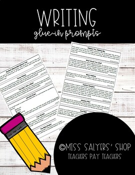 Glue-In Writing Prompts