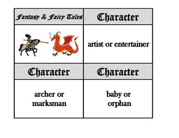 Story Starters - fantasy and fairy tale writing aid 171 flash card set