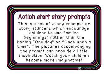 Story Starters using action beginnings