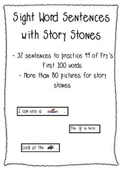Story Stones & Sight Word Sentences
