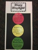 Story Stoplight - Main Idea, Summary, and Retell - Poster Pieces