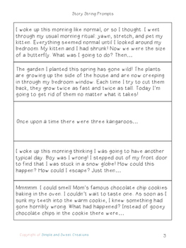 Story Strings - Whole Class Journaling