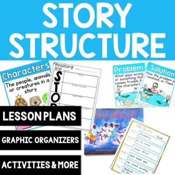 Story Structure: Lesson Plan, Anchor Charts, Mini-lesson and Graphic  Organizers