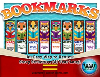 Story Structure Bookmarks