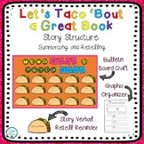 Story Structure Craft, Graphic Organizer, and Bulletin Board- Fiesta Taco Theme