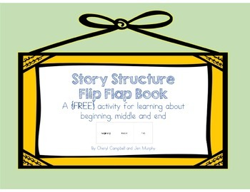 Story Structure Flip Flap Book {Beginning, Middle and End}