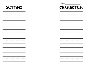 Story Structure Foldable