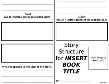 Story Structure Foldable Book