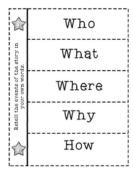 Story Structure Foldables